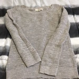 Loft gray comfy sweater - size small